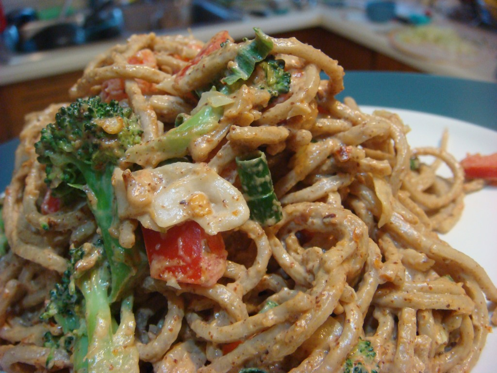 Spicy Almond Soba