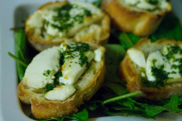 Goat Cheese Toasts