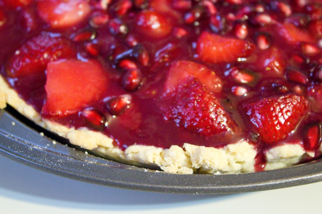 Pomegranate Strawberry Pie