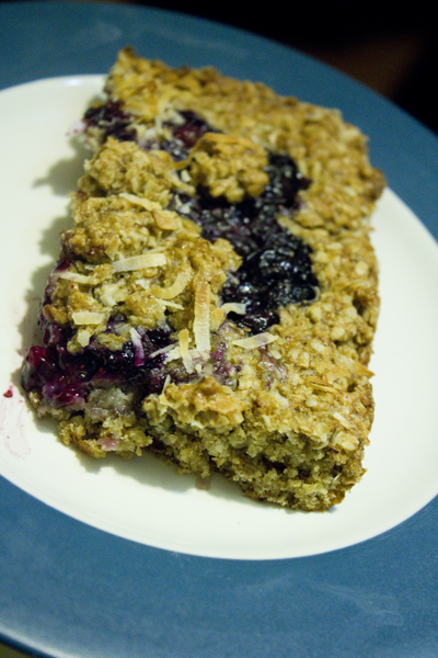 Maple Oatmeal Blueberry Bars