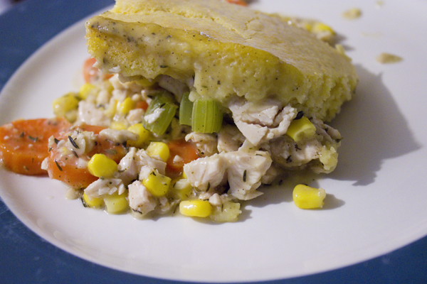 Creamy Chicken and Cornbread Casserole